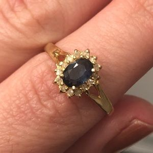 Jewelry - Sapphire and diamond ring